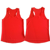Kit C/10 Camiseta Regata Feminina Fitness Ginástica Academia