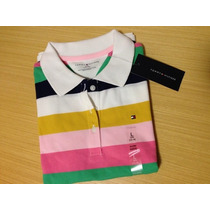 Camisa Polo Infantil Feminina Tommy Hilfiger Tam 12/14