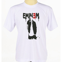 Camisa Estampada Eminem Camiseta Hip Hop Rap Rock