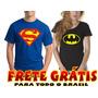 Camisetas Super Herois Capitão America Batman Lanterna Verde
