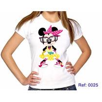 T-shirts Feminina Minnie Nerd Camisetas Personalizadas