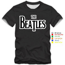 Camiseta Masculina Oficial The Beatles Classic Logo