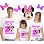 Kit Camisetas Personalizada Aniversario Casa De Laços Minnie