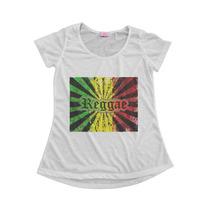 Blusinha Camiseta T-shirt Feminina Reggae