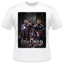 Camiseta Capitão América Guerra Civil Filme Camisa