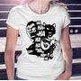 Camisa Estampa Feminina Vilões Do Batman Coringa E Arlequina