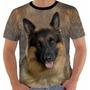 Camisa Camiseta Baby Look Cachorro Pet Dog Pastor Alemão