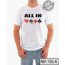 Poker Camiseta Ref:102 Meia Malha Pentiada 100% Algodão