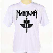 Camiseta Camisa Customizada Manowar Banda De Heavy Metal
