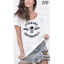 Camiseta T-shirt Sevenfold Fashion Feminino Blusa Baby Look