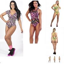 Body Colant Feminino Com Bojo Fitness Panicat Estampas