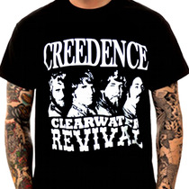Camiseta De Rock Creedence Galeria Da Estampa