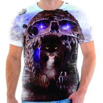 Camisa, Camiseta Caveira Onça Escuridão Dark Moda Top 236