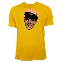 Camiseta Infantil Amarela Elvis Presley Rock Rei 01