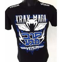 Camisa Camiseta Venum Krav Maga Jiu Jitsu Pretorain Jaco
