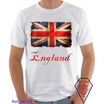 Camiseta Personalizada Bandeiras País Inglaterra England