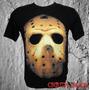 Camiseta Filmes Terror Séries Cinema Rock Mascara Do Jason