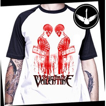 Camiseta Raglan Bullet For My Valentine Baby Look Banda Rock