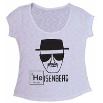 Blusa Camiseta Flamê Feminina Heisenberg Breaking Bad