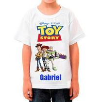 Camiseta Infantil Toy Story Com Nome Da Criança Camisa
