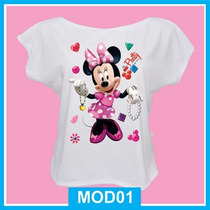 Blusa Feminina Infantil Minnie, Disney, Fashion, Vestido