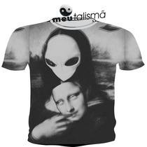 Camiseta,baby Look,regata Masculina Ou Feminina Trippy Alien