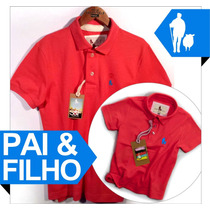 Pai & Filho Camiseta Polo Sheepfyeld Qualidade De Importada