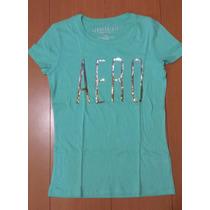 Camiseta Feminina Manga Curta Aeropostale - Importado