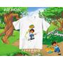 Camiseta Diego Go Infantil Personalizada Desenho
