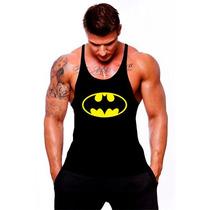 Camiseta Regata Cavada Batman Musculação Academia Tank Top