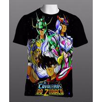 Camisa Anime Cavaleiros Do Zodíaco