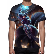 Camisa, Camiseta League Of Legends - Ahri Noturna