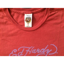 Camiseta Ed Hardy Com Swarovski Pouco Uso Tamanho S