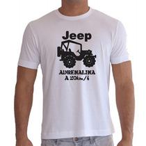 Camiseta Jeep Carro Automotivo Masculina Feminina Adrenalina