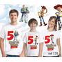 Lembrança De Aniversario Toy Story Buzz Woody Camiseta Com 3