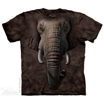 Camisa 3d Elephant Face The Mountain Original