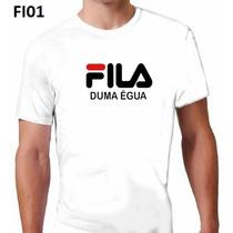 Camiseta Fila De Uma Égua, Camisetas Engraçadas