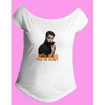 Camiseta Feminina Gola Canoa Justin Bieber Believe 03