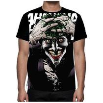 Camiseta Joker Coringa Curinga Batman Heath Ledge Dc Comics
