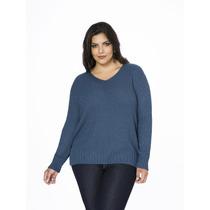 Blusa De Tricô Feminina Plus Size - Gg (tamanho Grande)