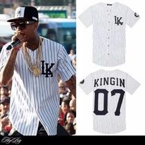 Camisa 2015 Last Kings Baseball Tyga Hip Hop Cease Gg