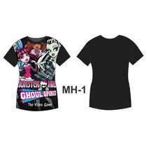 Camisa Camiseta Personalizada Desenhos Monster High