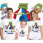 Camiseta Patati E Patatá Circo Aniversário Palhaço Kit Com 3