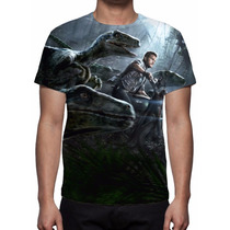 Camisa, Camiseta Filme Jurassic World - 2015 - Estampa Total