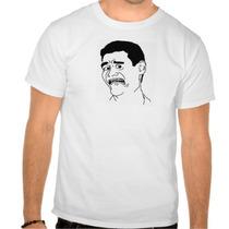 Camiseta Meme Yao Scared / Humor, Sátiras, Engraçadas, Memes