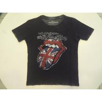 Camiseta Ellus Kids The Rolling Stones - Preto