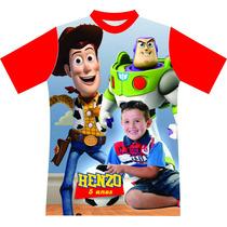 Camiseta Personalizada Aniversário C/ Foto Toy Story Minions