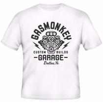Camiseta Gas Monkey Garage Seriado Dallas Texas Discovery
