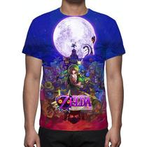Camisa, Camiseta Game Zelda Majora´s Mask - Estampa Total