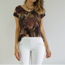 T-shirt Blusa Customizada Viscose - Choies